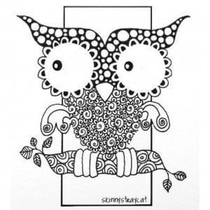 сова раскраска (176)