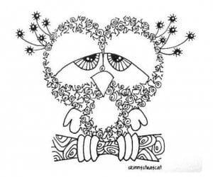 сова раскраска (178)