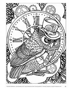 сова раскраска (18)