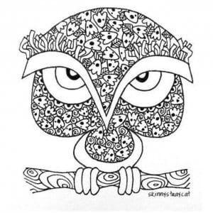 сова раскраска (181)