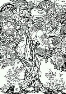 сова раскраска (194)