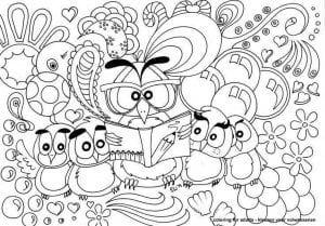 сова раскраска (199)