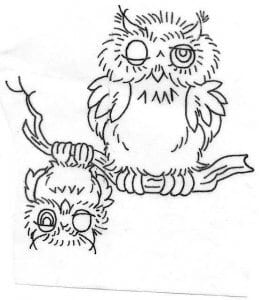 сова раскраска (202)