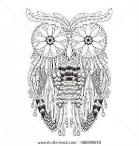 сова раскраска (216)