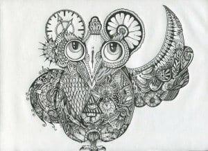 сова раскраска (220)