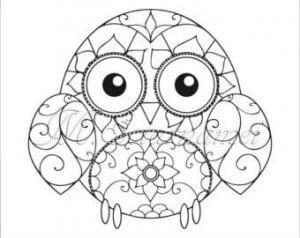 сова раскраска (226)