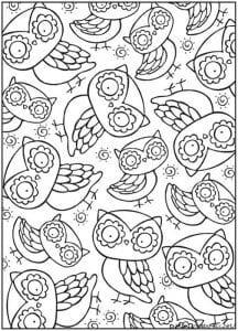 сова раскраска (235)