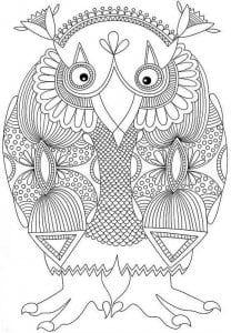 сова раскраска (241)