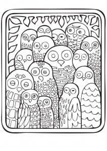 сова раскраска (264)