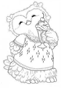 сова раскраска (266)