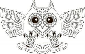 сова раскраска (271)