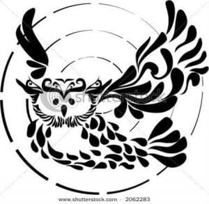 сова раскраска (273)