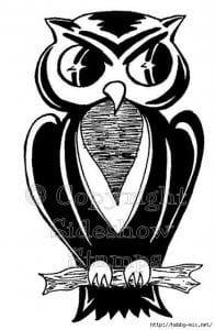 сова раскраска (285)