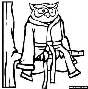 сова раскраска (290)