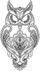 сова раскраска (295)