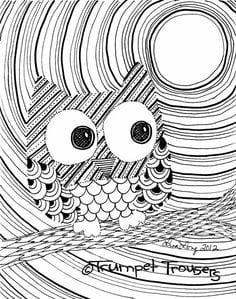 сова раскраска (30)