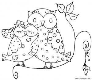 сова раскраска (302)