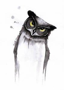 сова раскраска (31)