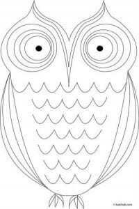 сова раскраска (314)
