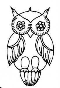 сова раскраска (318)