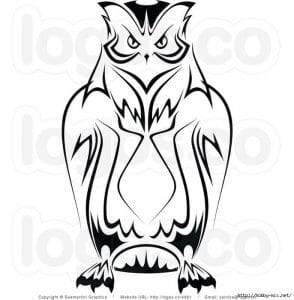 сова раскраска (348)
