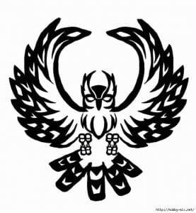 сова раскраска (350)