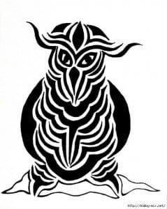 сова раскраска (358)