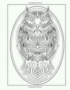 сова раскраска (36)
