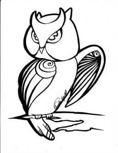 сова раскраска (363)