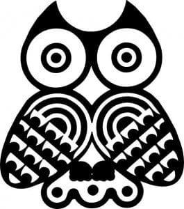 сова раскраска (367)