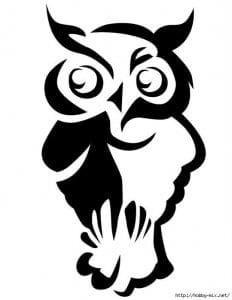 сова раскраска (370)