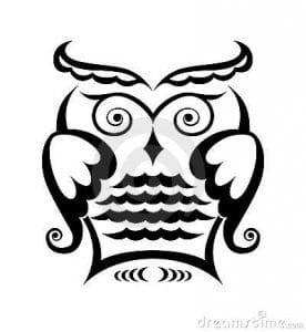 сова раскраска (377)
