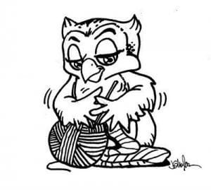 сова раскраска (378)