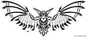 сова раскраска (387)