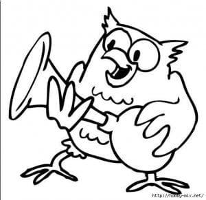 сова раскраска (389)