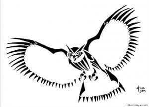 сова раскраска (394)