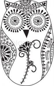 сова раскраска (396)