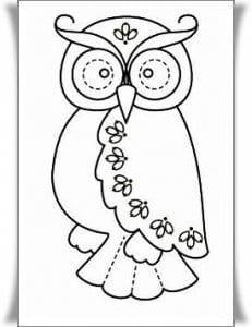 сова раскраска (405)