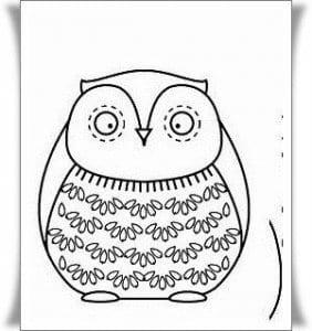 сова раскраска (406)