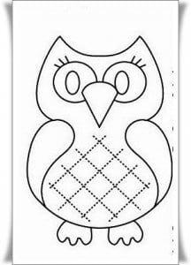 сова раскраска (407)