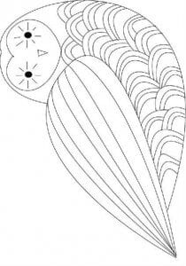 сова раскраска (419)