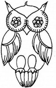 сова раскраска (424)