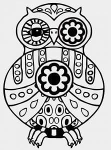 сова раскраска (428)