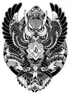 сова раскраска (454)