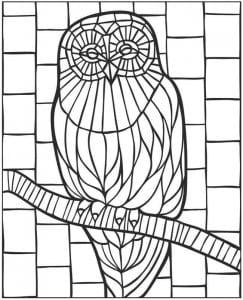 сова раскраска (47)
