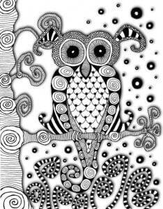 сова раскраска (472)