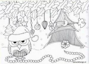сова раскраска (480)