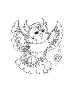 сова раскраска (487)