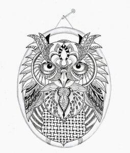 сова раскраска (509)