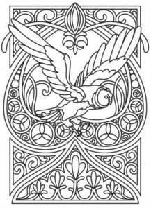сова раскраска (521)